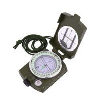 Military Lensatic Prismatic Sighting Survival Emergency Compass