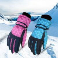 Water Resistant Winter Women Ski Gloves