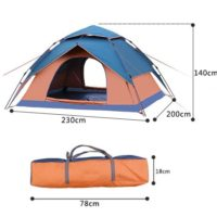 5 Person Double Layer Automatic Instant Pop Up Tent