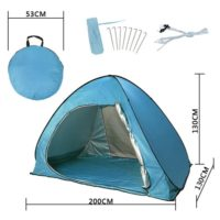 Beach Tent Camping Sun Shelter Outdoor Automatic Cabana