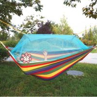 Canvas Fabric Double Mosquito Net Outdoor Hammock