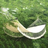 Handwoven American Style Hammock with Spreader Bars