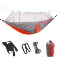 Portable Ripstop Nylon Camping Hammocks With Mosquito Net