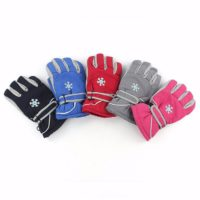 Fashion best kids skiing gloves waterproof winter warm