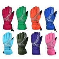Waterproof sport outdoor ski gloves for men women and kids