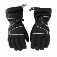 ski gloves leather